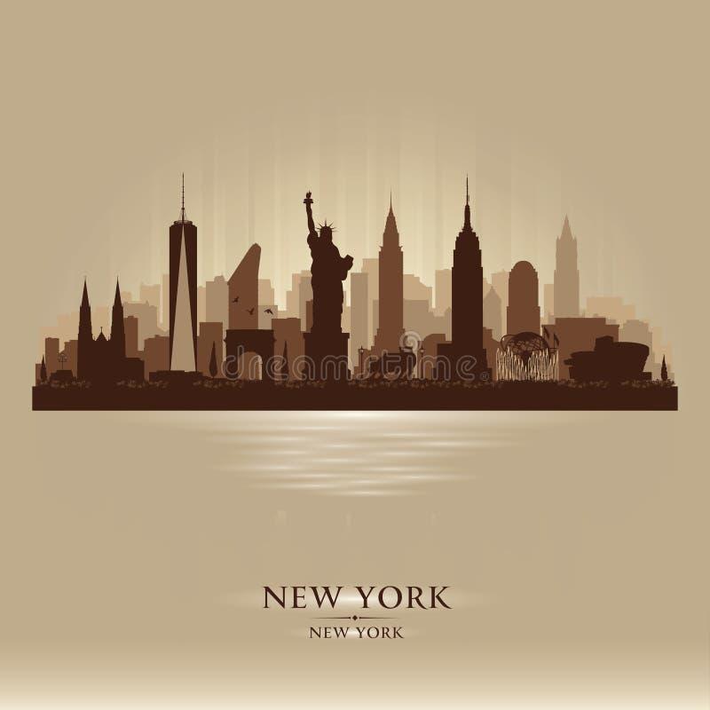 Silhouette de vecteur d'horizon de New York City illustration stock