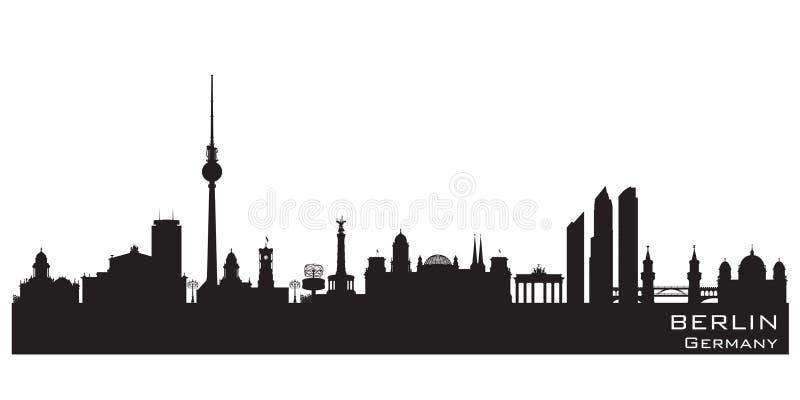 Silhouette de vecteur d'horizon de ville de Berlin Germany illustration libre de droits