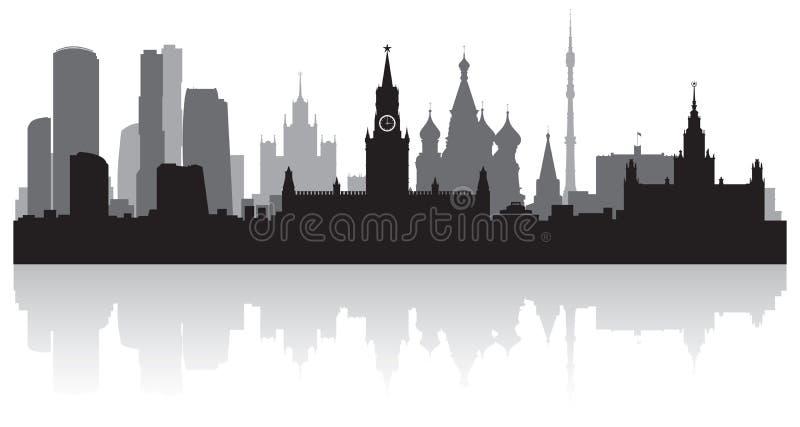 Silhouette de vecteur d'horizon de ville de Moscou Russie illustration libre de droits