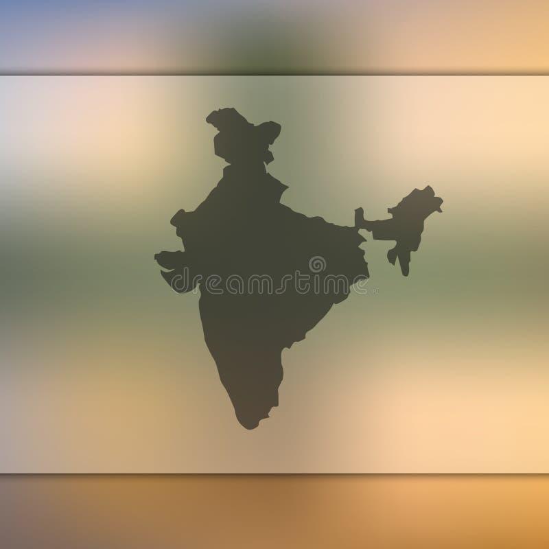 Silhouette de vecteur d'Inde Fond brouillé illustration libre de droits