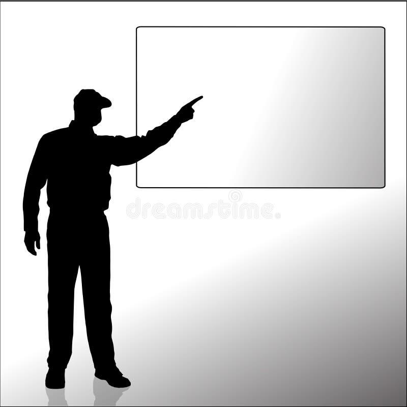 Silhouette de vecteur d'un homme illustration de vecteur