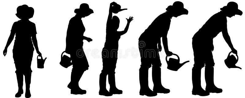 silhouette de vecteur d 39 un jardinier illustration de vecteur illustration du l gume people. Black Bedroom Furniture Sets. Home Design Ideas