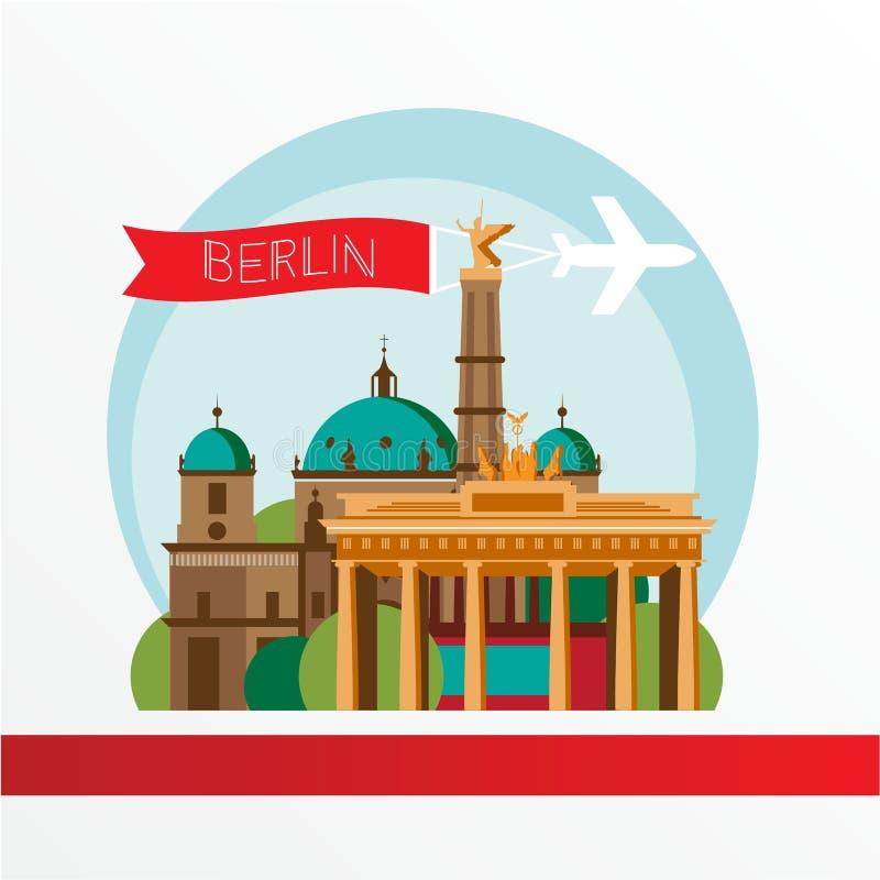 Silhouette de vecteur de Berlin Germany Horizon de ville illustration de vecteur