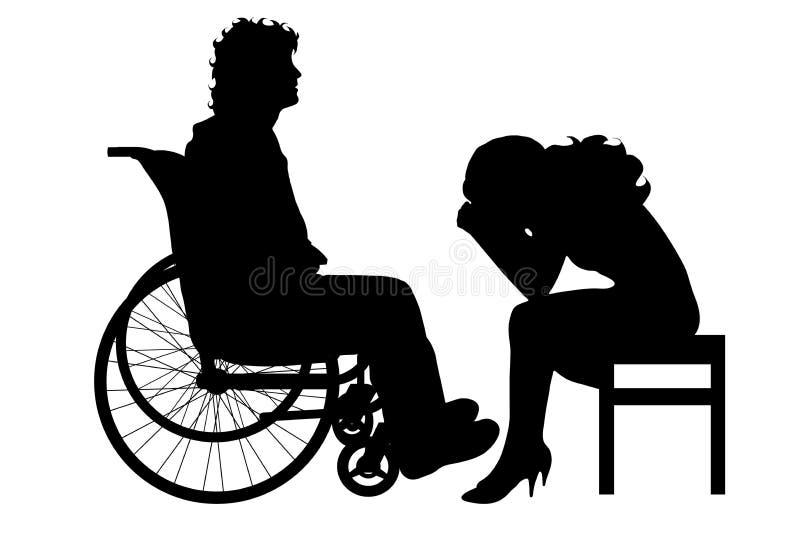 Silhouette de vecteur des couples illustration libre de droits