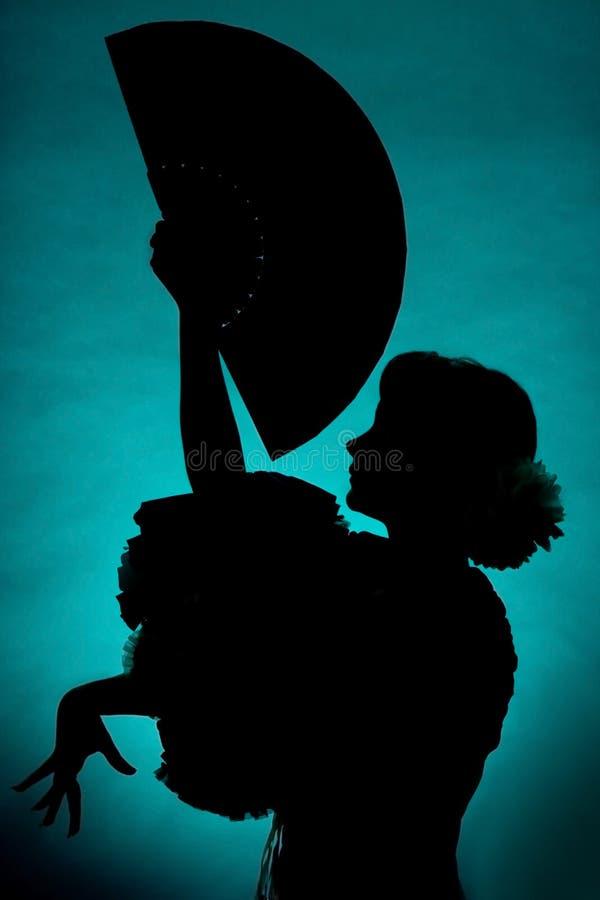 Silhouette de ventilateur image libre de droits