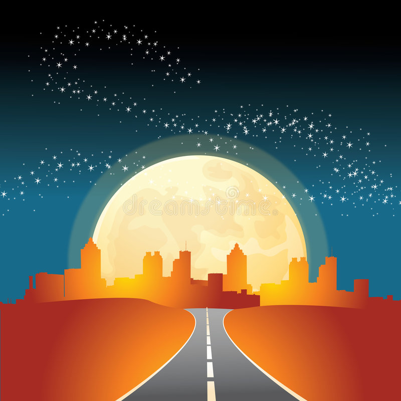 silhouette de ville illustration de vecteur