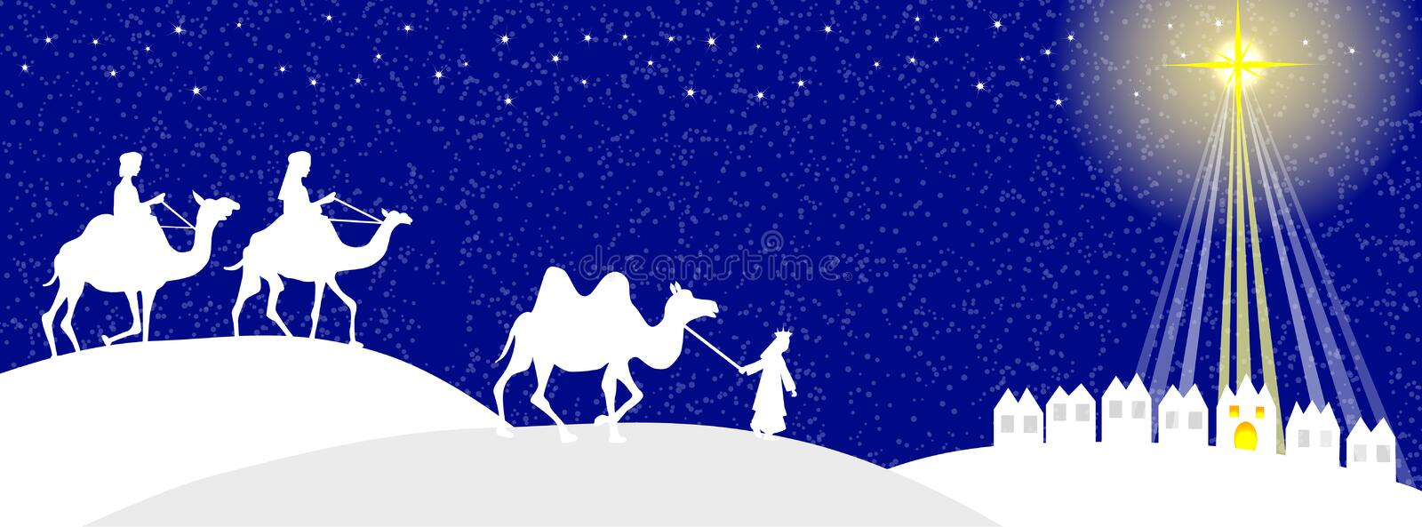 Silhouette de Wisemen illustration stock