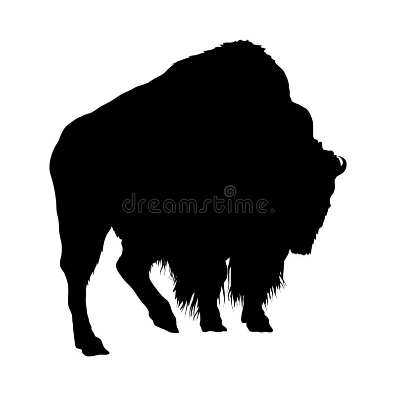 Silhouette de yaks illustration de vecteur