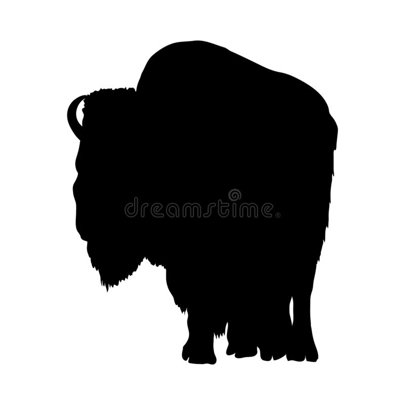 Silhouette de yaks illustration stock