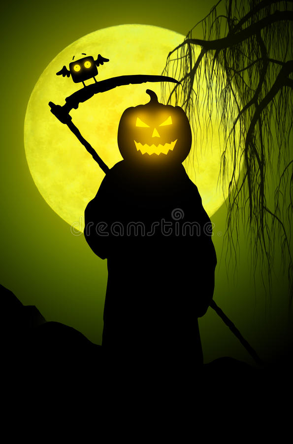 Silhouette of death. Halloween style royalty free illustration
