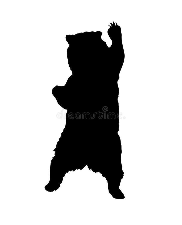 Silhouette debout d'ours illustration libre de droits
