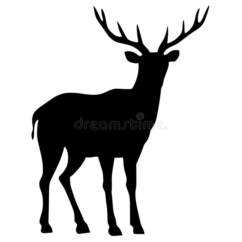Download Silhouette of deer stock vector. Illustration of animal - 14152329
