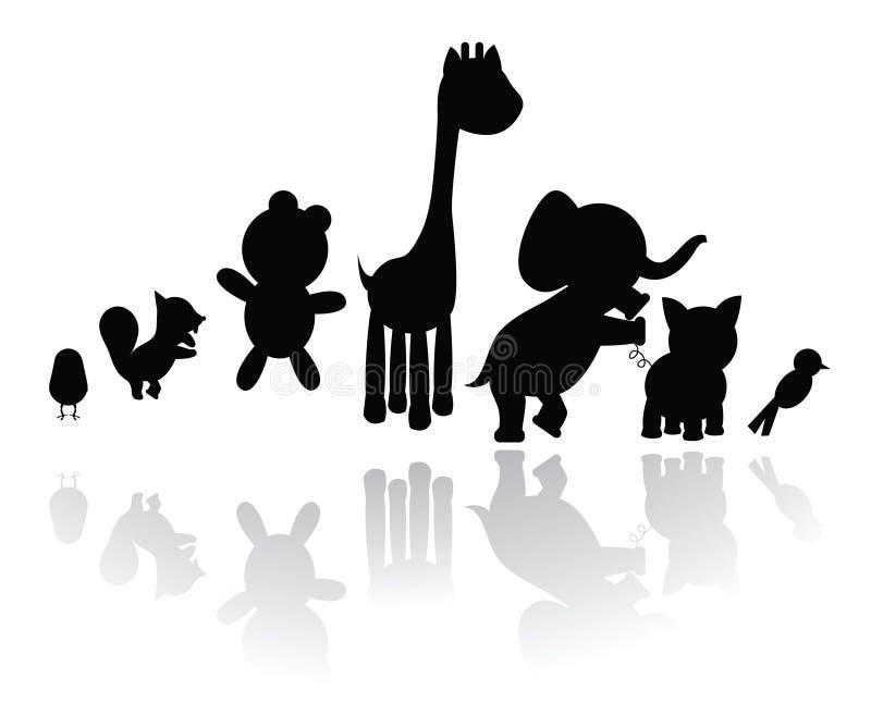 silhouette des animaux illustration stock