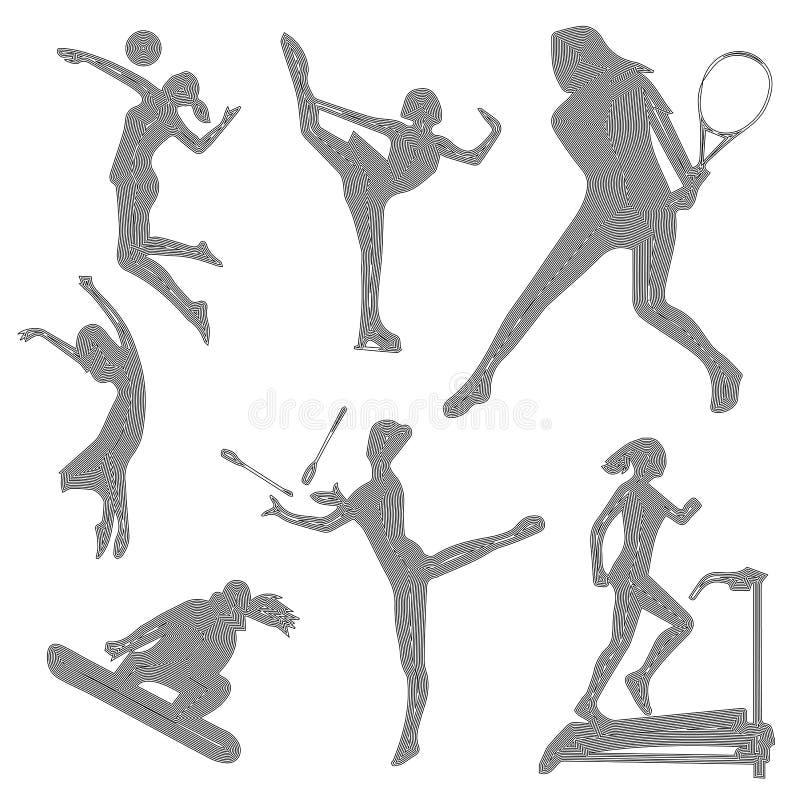 Volleyball Dig Girl Silhouette Illustration de Vecteur ...