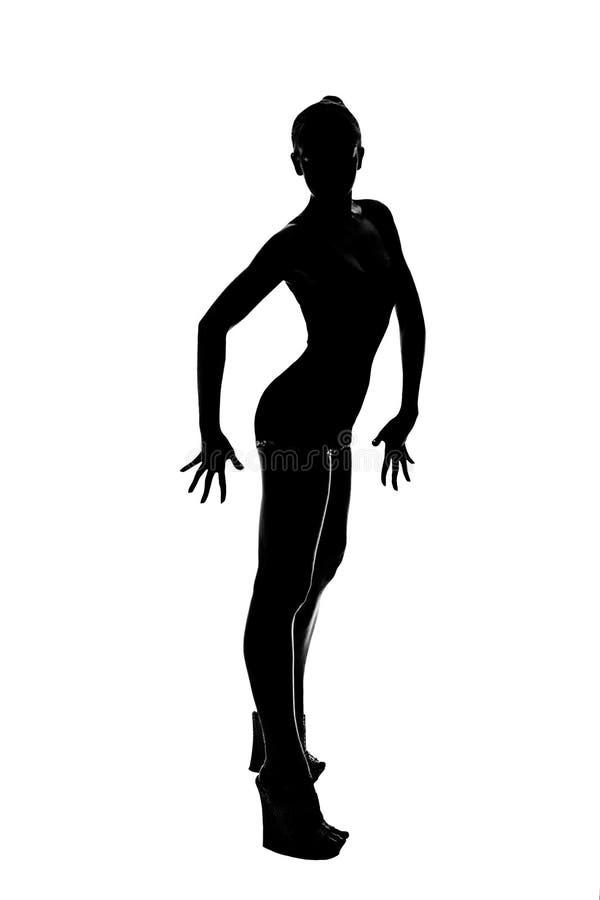 Download Silhouette des gymnastes image stock. Image du couleurs - 45354239