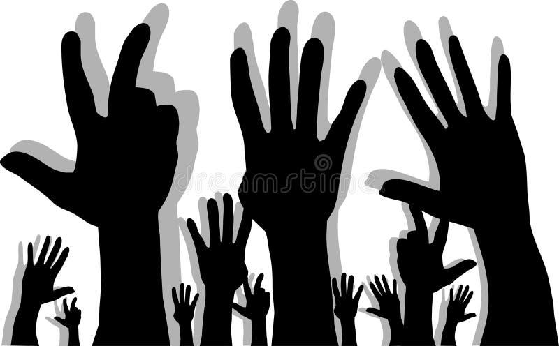 Silhouette des mains illustration libre de droits