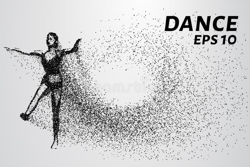 Silhouette des particules de danse La danse se compose de petits cercles Illustration de vecteur illustration stock