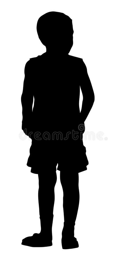 Silhouette des supports d'un garçon illustration libre de droits