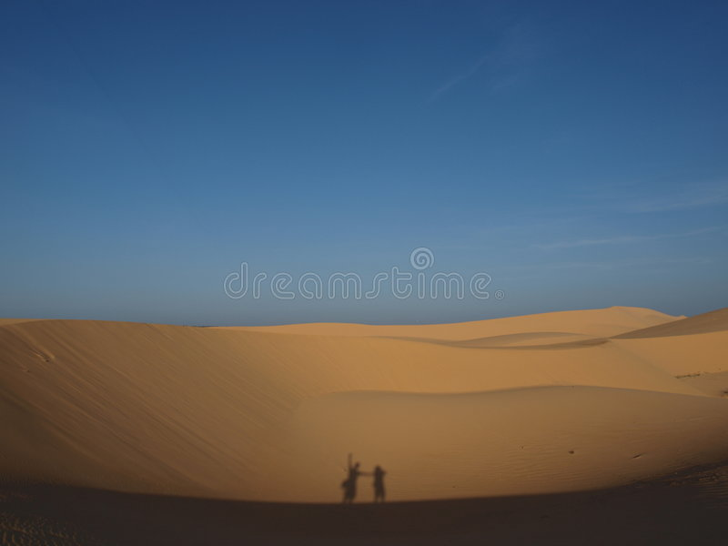 Download Silhouette in desert stock image. Image of sahara, blue - 6655843
