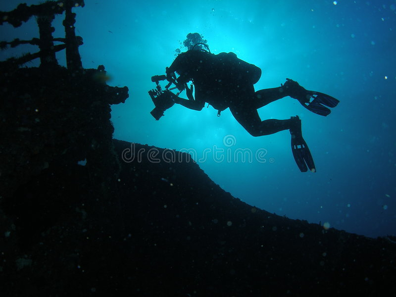 Download Silhouette Diver stock image. Image of exotic, adventure - 6484039