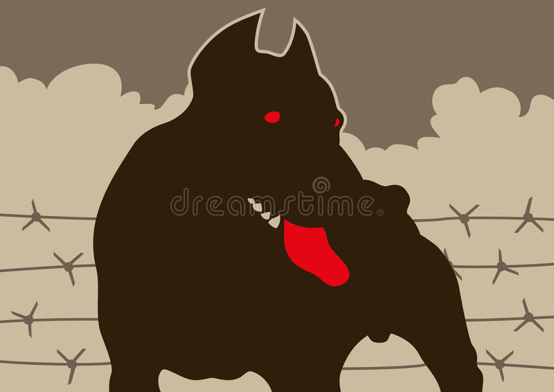 Silhouette Of A Dog. Royalty Free Stock Image