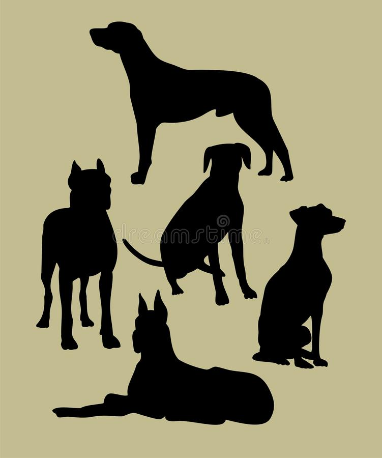 Download Silhouette of the dogs stock vector. Image of silhouette - 28306243