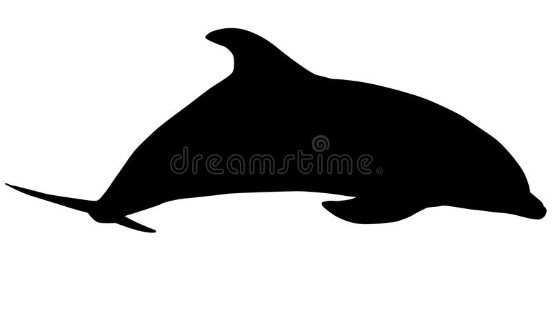 Silhouette of Dolphin royalty free illustration