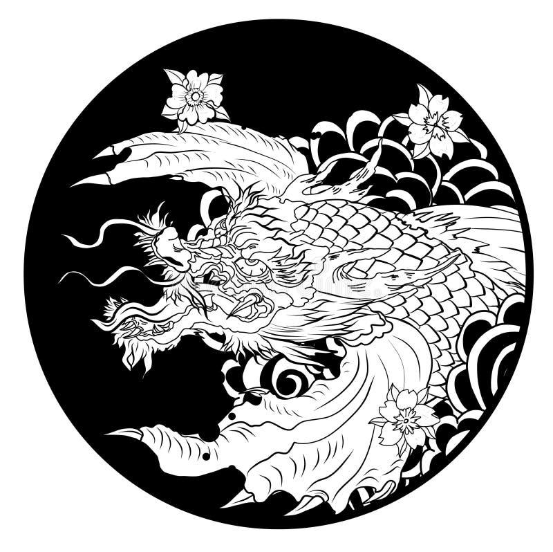 Dragon Head Outline Stock Illustrations – 751 Dragon Head