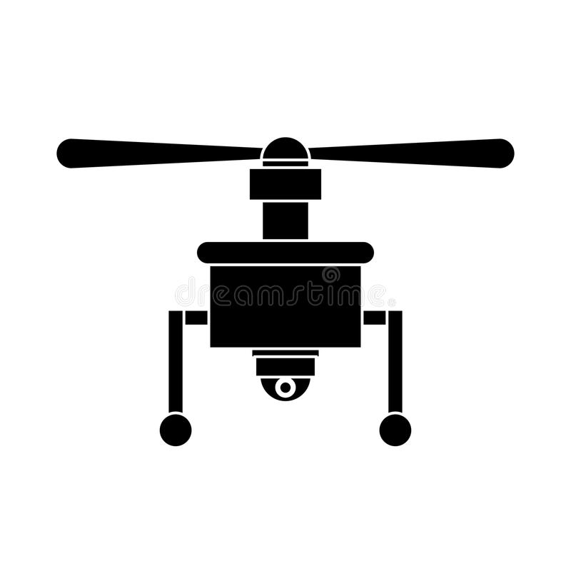 Silhouette drone with camera and one airscrew. Vector illustration vector illustration