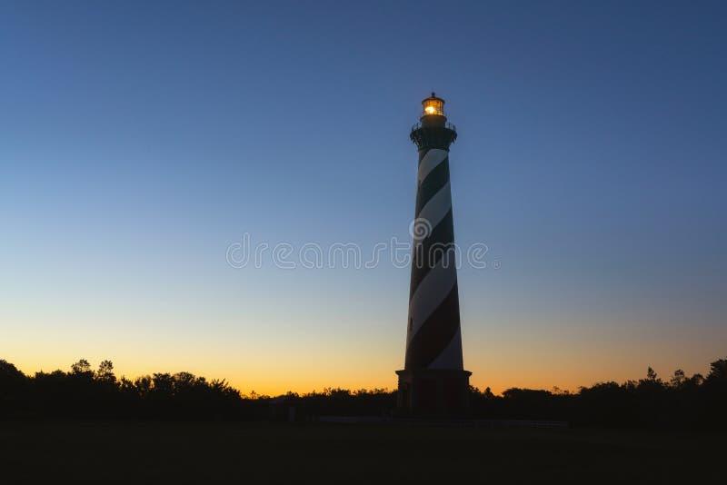 Silhouette du Cap Hatteras photo stock