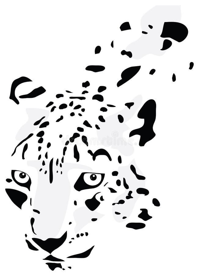 Silhouette du léopard illustration de vecteur