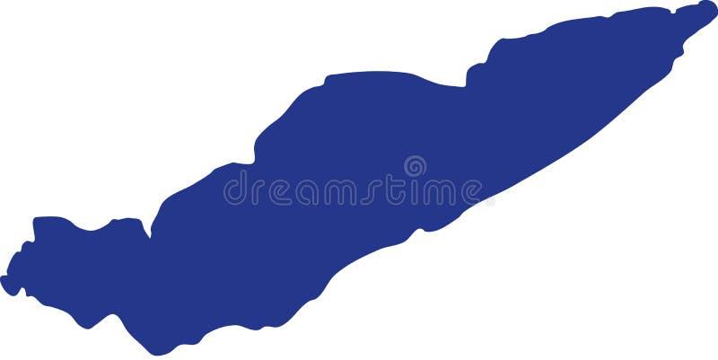 Silhouette du lac Érié illustration libre de droits