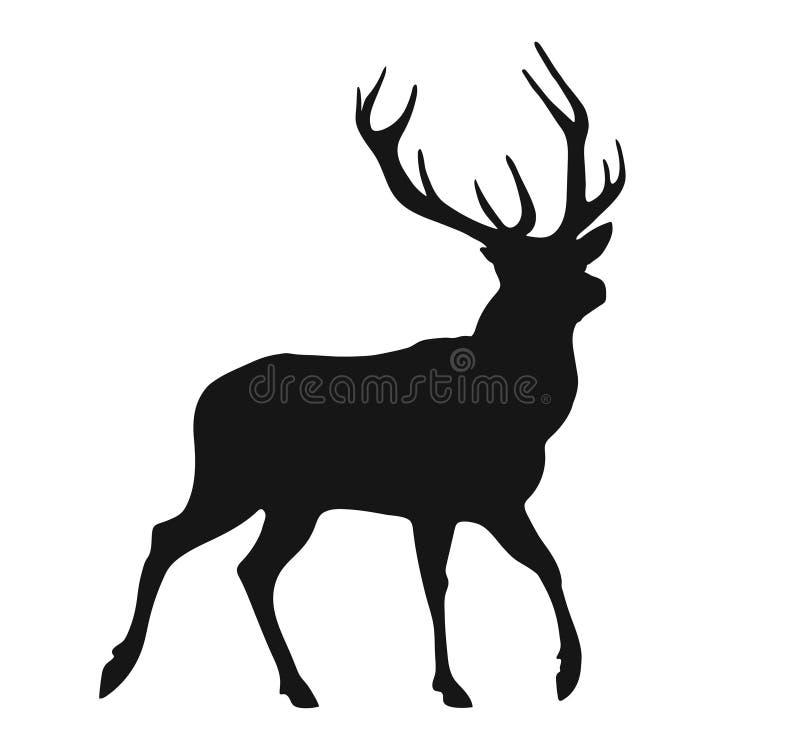 Silhouette du mâle illustration stock