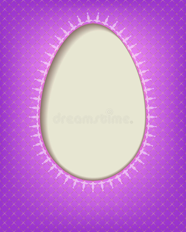 Silhouette Easter eggs. On a purple checkered background with place for photo, text vector illustration