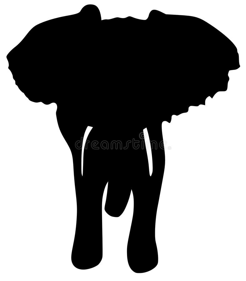 Download Silhouette of elephant stock vector. Image of white, africa - 14119466