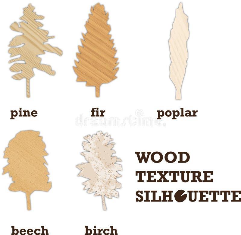 Silhouette en bois de texture illustration stock