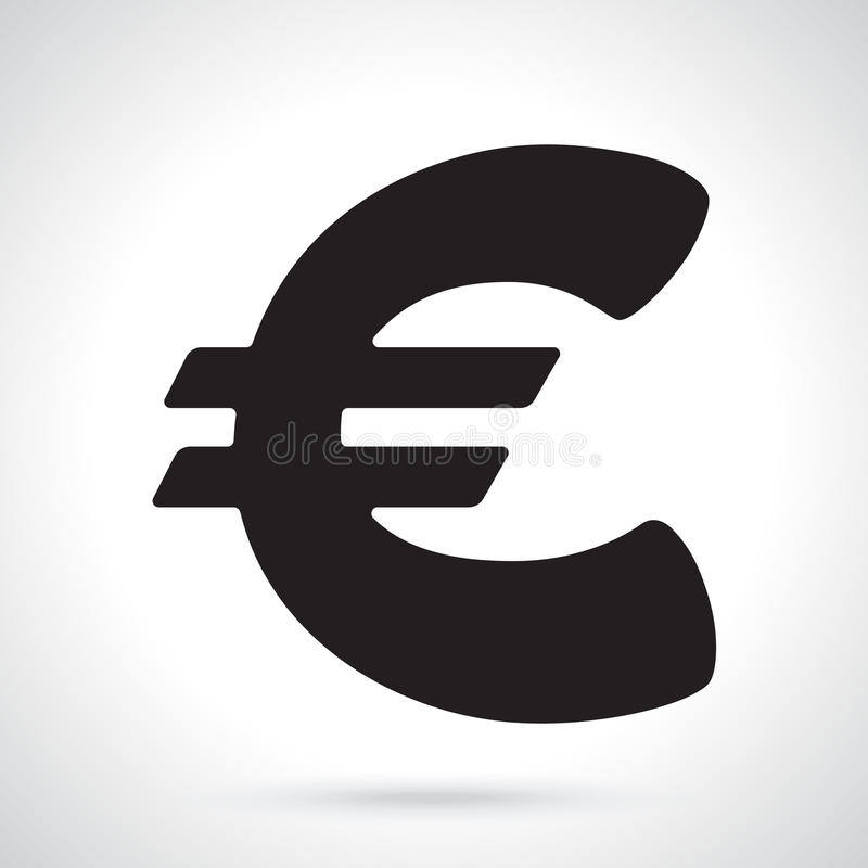 Silhouette Of Euro Sign Stock Vector Illustration Of Market 94938124