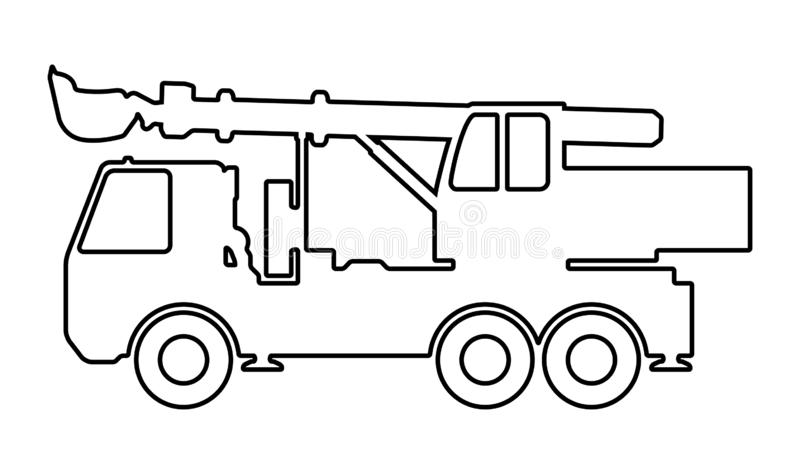 Silhouette the excavate. Vector illustration of the silhouette of an excavator at the base of the car vector illustration