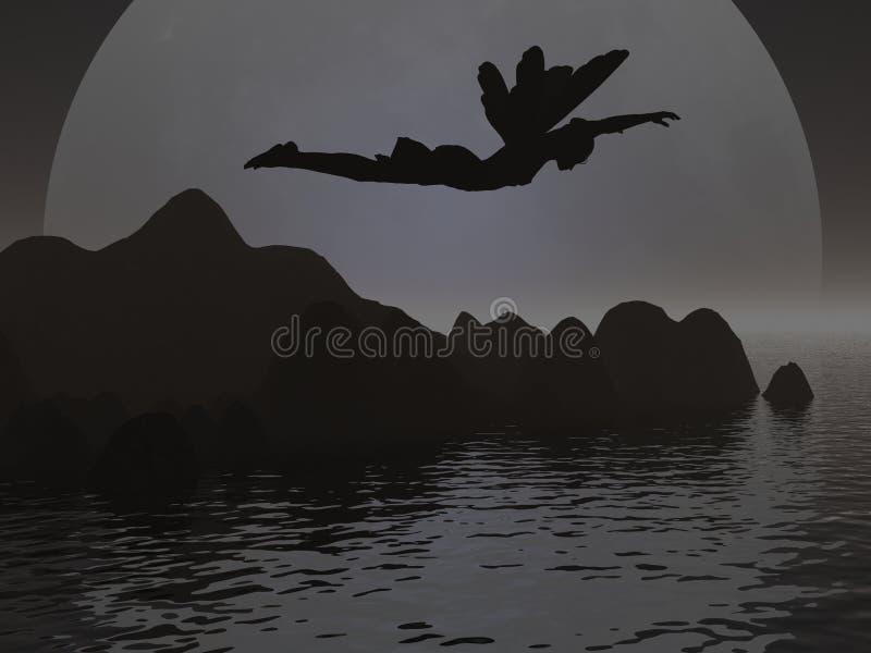 Silhouette féerique illustration stock