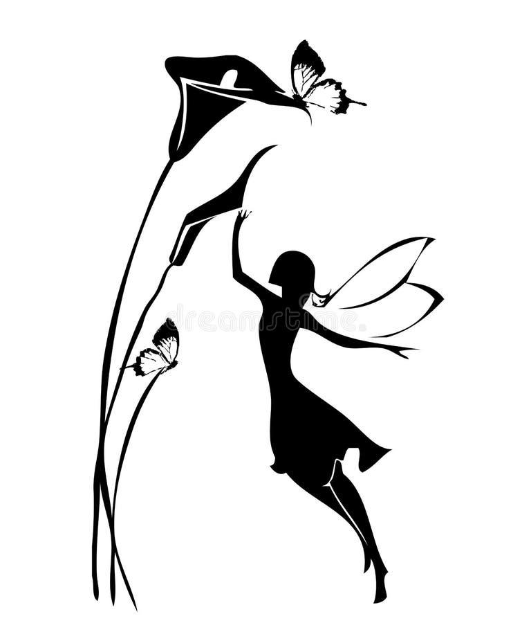 Silhouette féerique illustration de vecteur