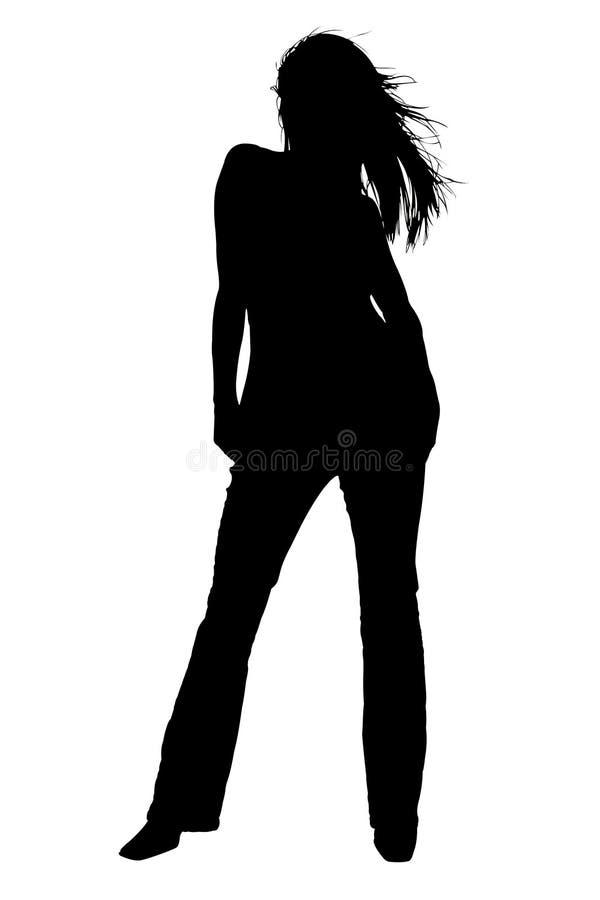 silhouette för bana för clippingmodemodell vektor illustrationer
