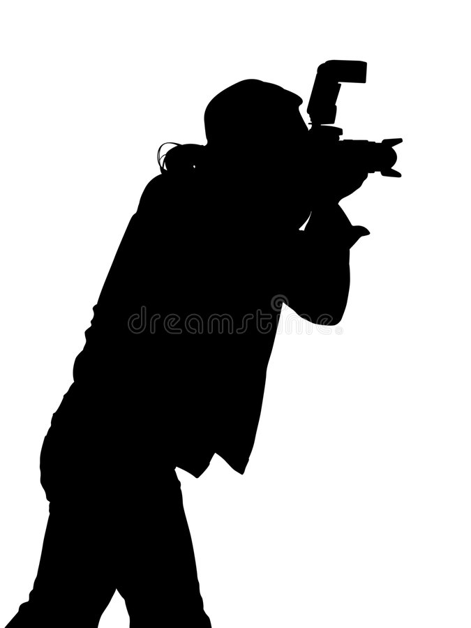 silhouette för fotograf för clippingbana vektor illustrationer