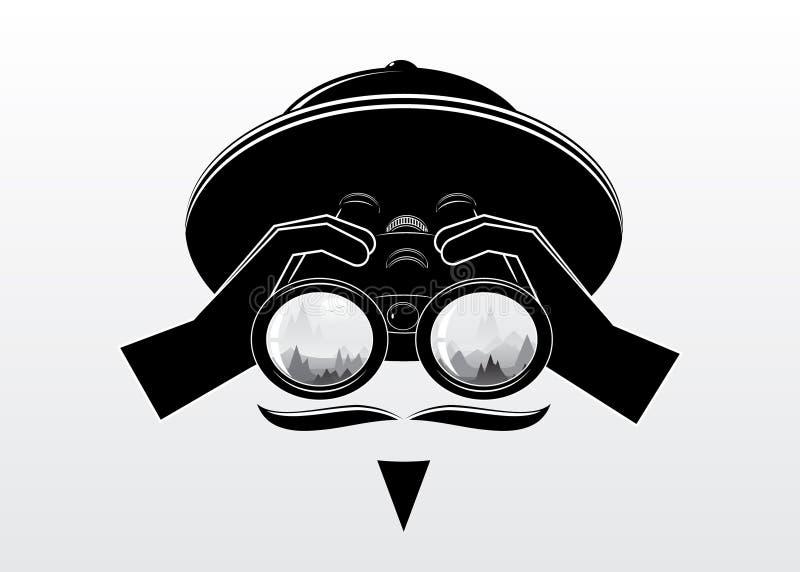 silhouette för man s royaltyfri illustrationer