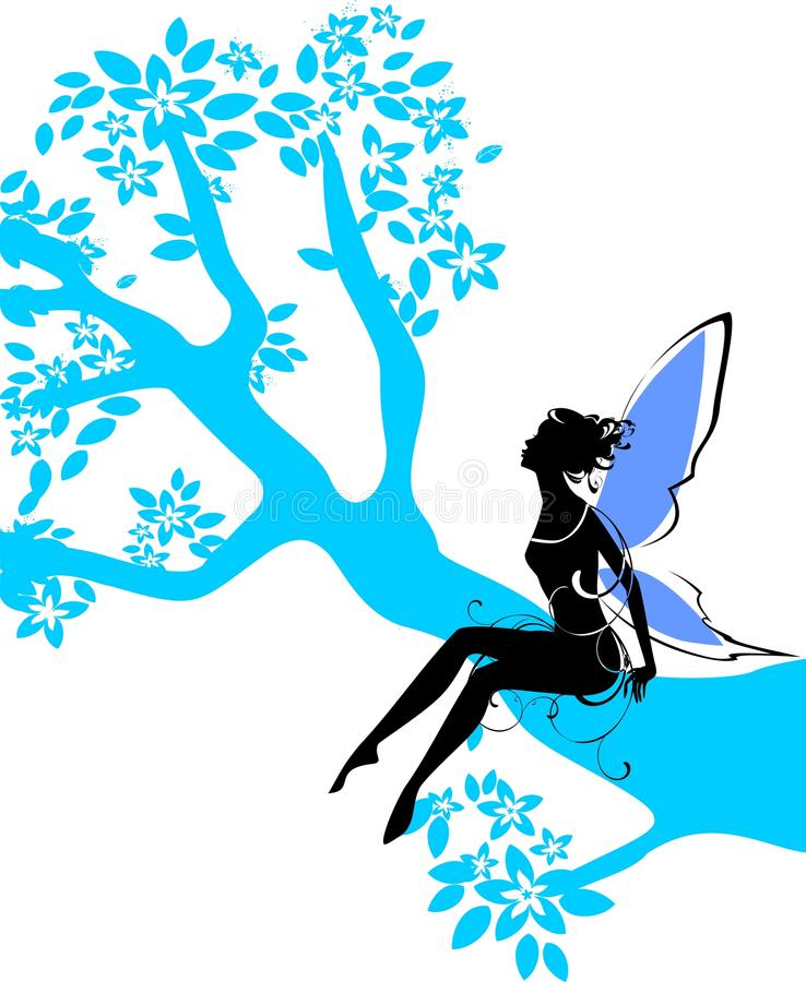 Silhouette Of Fairy Royalty Free Stock Images
