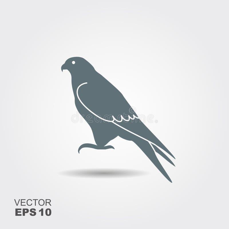 Falcon icon - vector illustrator vector illustration