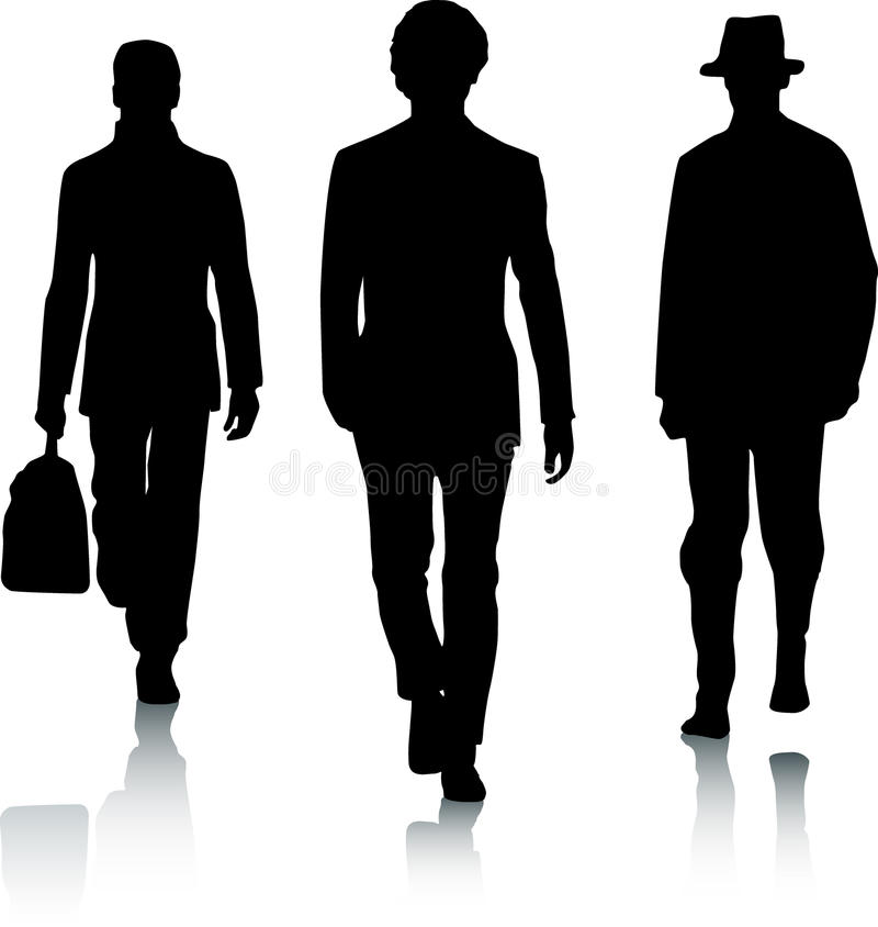 Silhouette fashion men royalty free stock photography