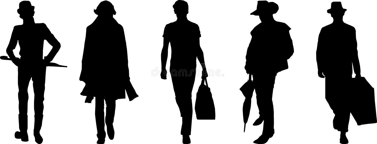 Silhouette fashion men stock photography