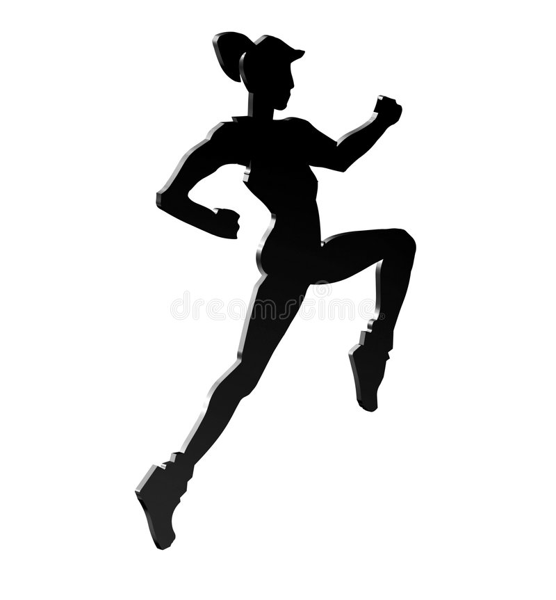 Download Silhouette Of A Female Royalty Free Stock Images - Image: 4220239
