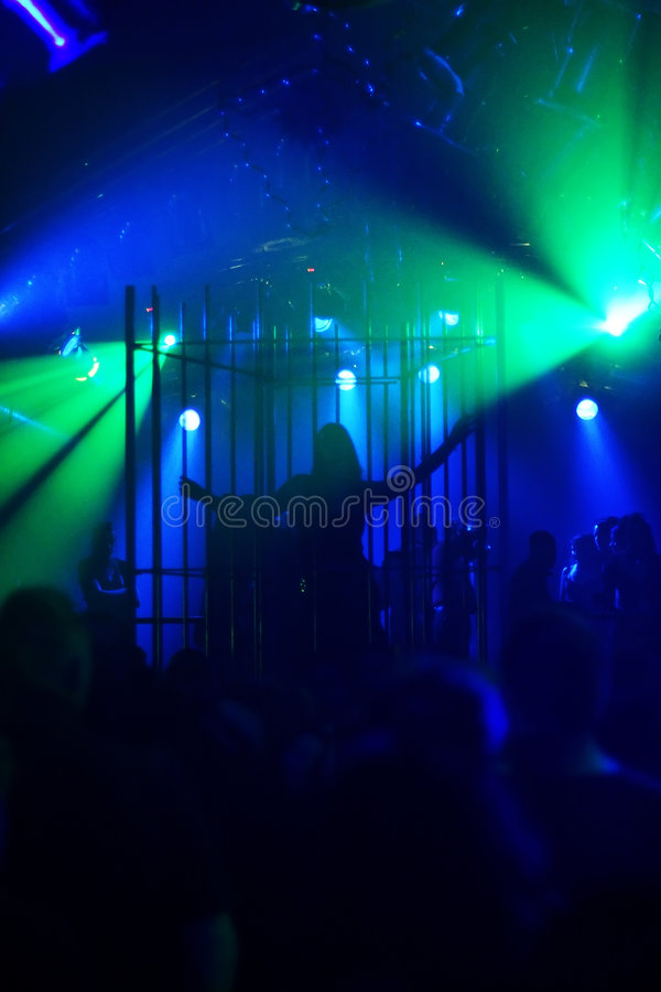 Download Silhouette Of Female Dancer In A Steel Cage Stock Photo - Image of gothic, teen: 453932