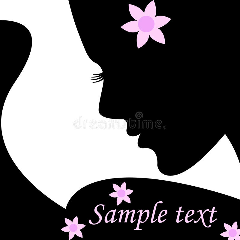 Free Silhouette Female For Text. Vector Illustration. Stock Photo - 20978150